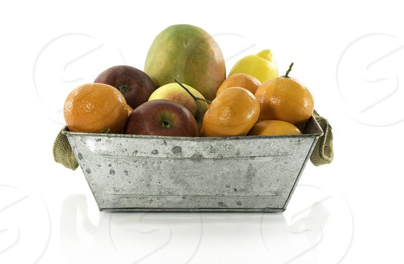fruit bowl isolated photo