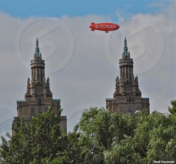 Blimp in NYC photo