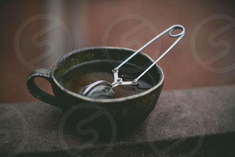 tea steep in cup photo