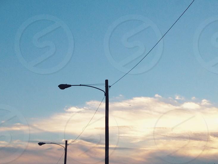 black street light photo