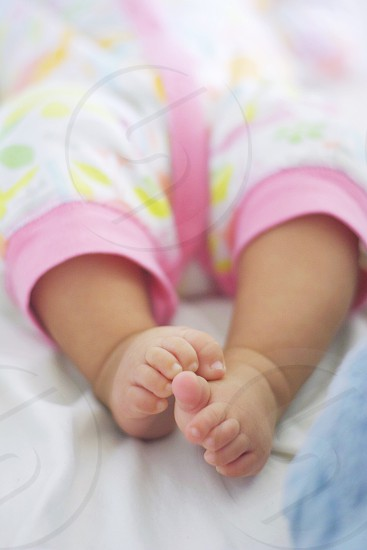 Toes foot feet baby pink photo