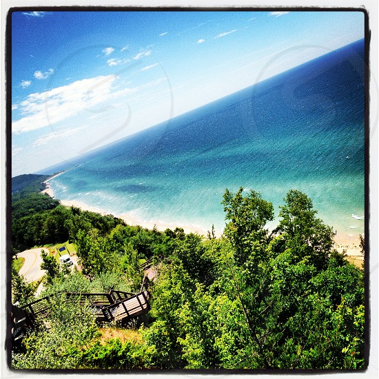 Arcadia lookout along M22 in Northern Michigan photo