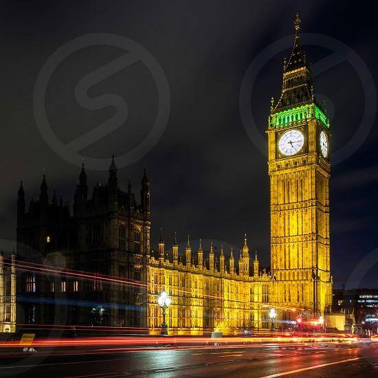 View of Big Ben at Nighttime photo