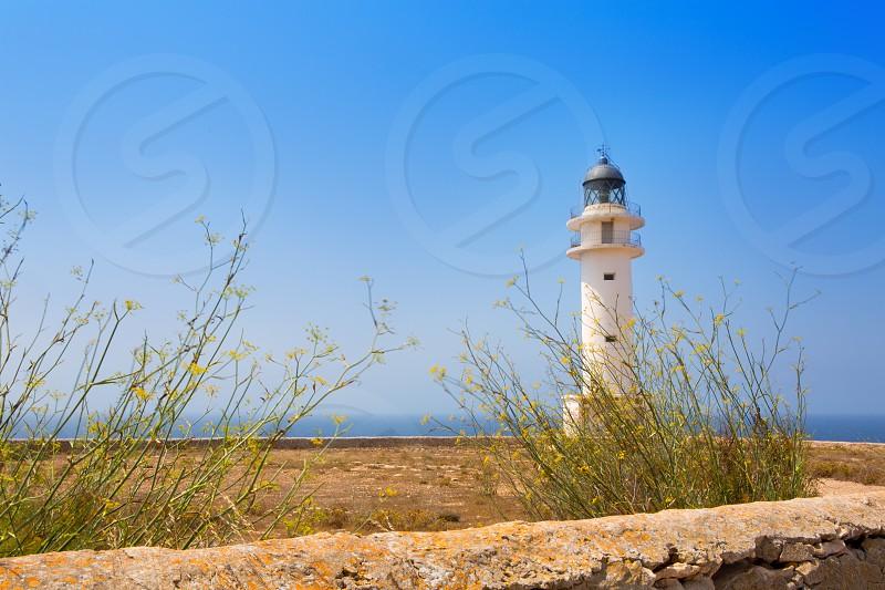 La Savina Sabina lighthouse in formentera at Balearic Islands photo