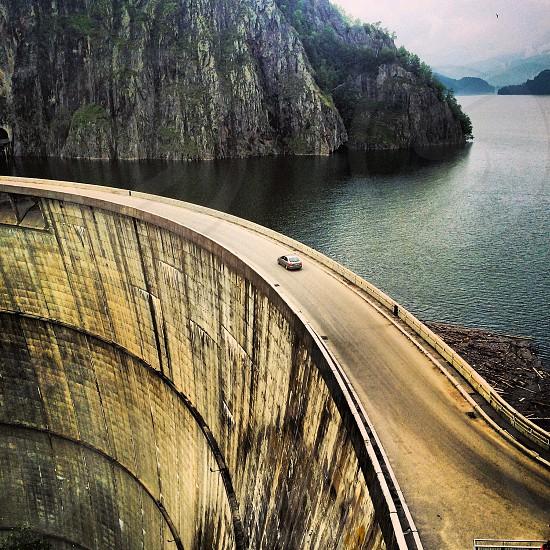 Dam road in vidrarum romania photo