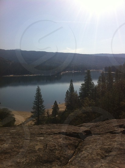 On a nature hike overlooking the lake  photo