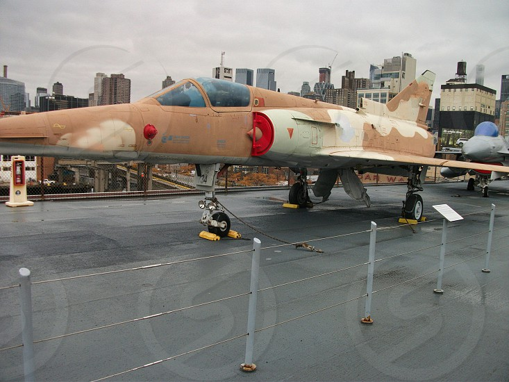 an old mig in a museum at the tour photo