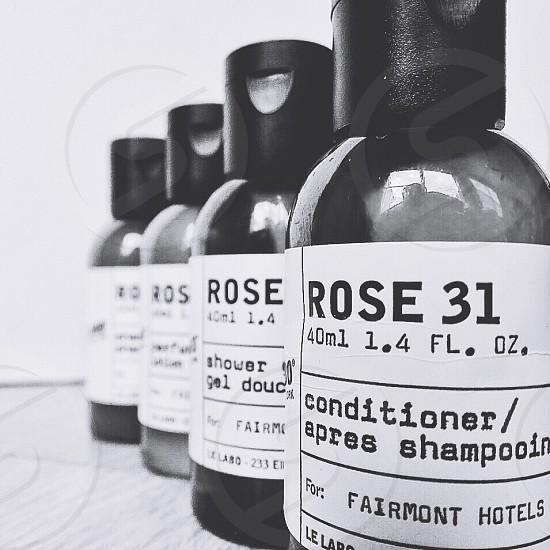 Rose 31 conditioner shampoo bottles photo