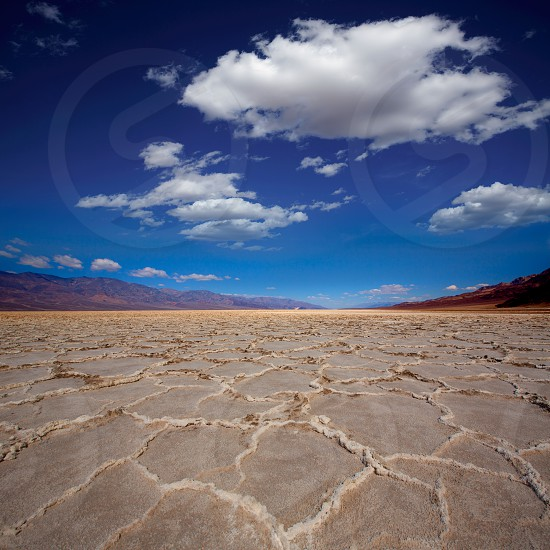 Badwater Basin Death Valley salt formations in California National Park photo