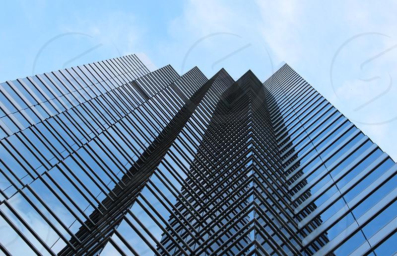 A modern glass skyscraper in London's financial district photo