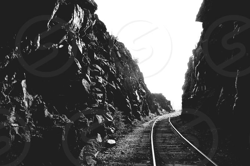 Crawford Notch NH railroad gorge photo