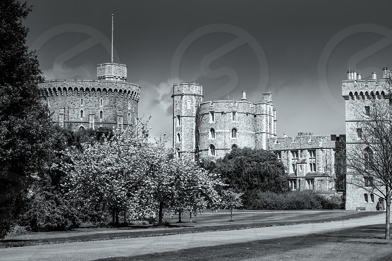 Scenic view of Windsor Castle photo