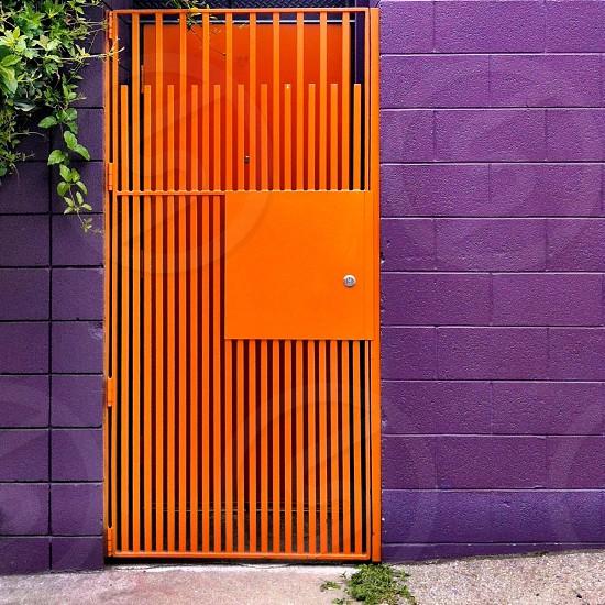 orange door photo