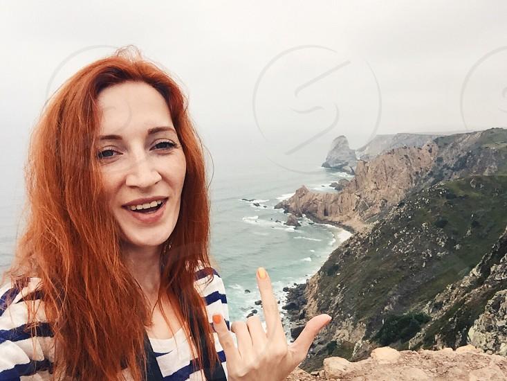 Selfie  Portugal cabo da Roca  photo