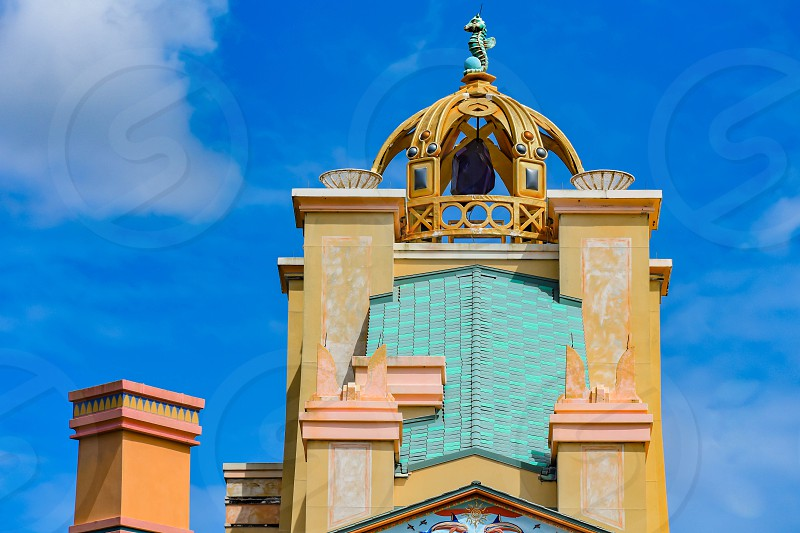 Orlando Florida . February 26  2019. Top view of Journey to Atlantis at Seaworld Theme Park (1) photo