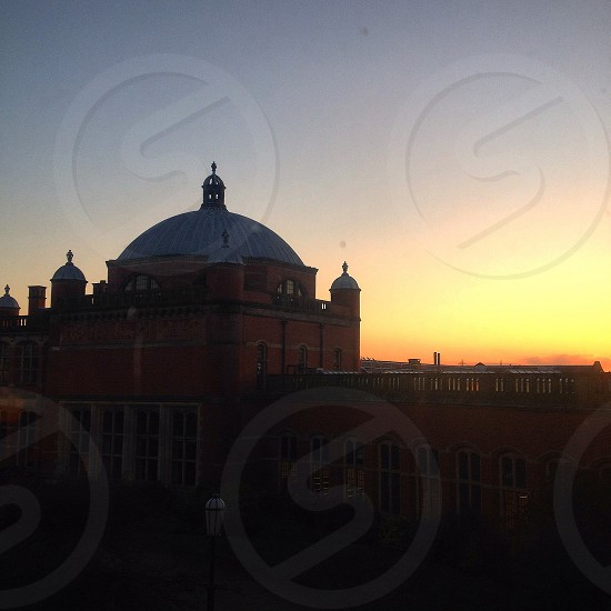 University of Birmingham campus at sunset  photo
