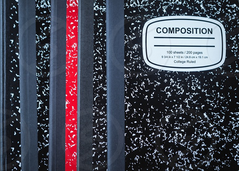 Composition notebooks photo