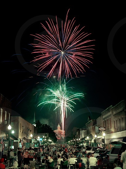 Fireworks 4th of July downtown courthouse sylva nc photo