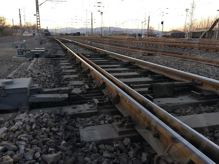 Rail way at my home town photo