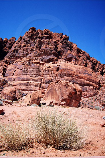 brown cliff desert photo photo