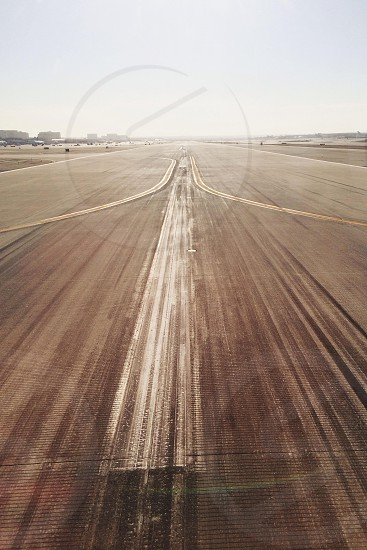 gray asphalt runway photo