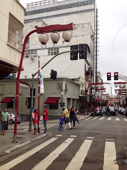 Not where you think it would be... Liberdade in Sao Paulo Brazil.  photo