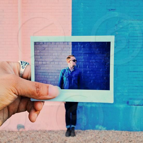 Male Polaroid  instax  Fuji  photo