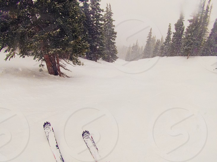 Skiing Winter Colorado Breckenridge Whiteout photo