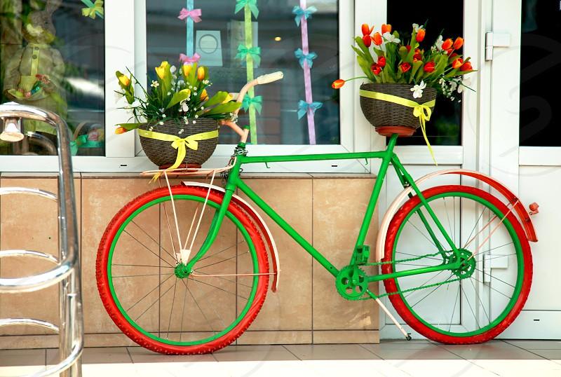 colorful bike photo