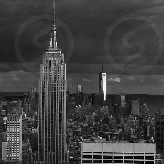 New York City dark day bad weather grey sky photo