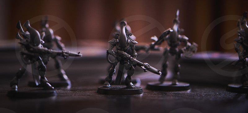 Alien soldiers collectible game pieces                         photo