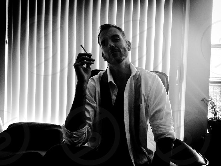 Smoking man bad habit photo