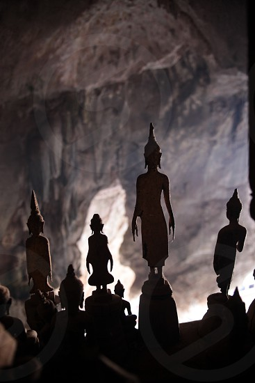 the  Pak Ou Buddha Cave at the Mekong River near Luang Prabang in the north of Lao in Souteastasia. photo