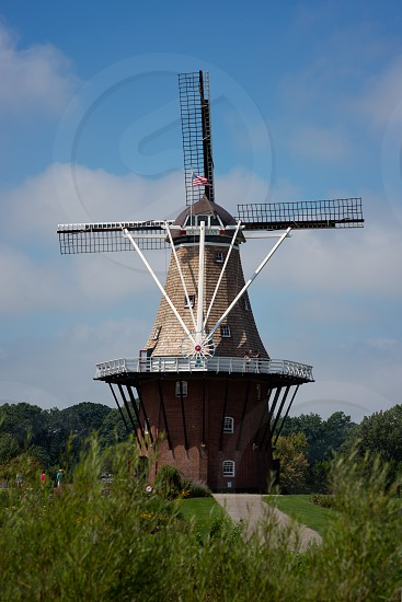 de zwaan windmill - holland michigan united states photo