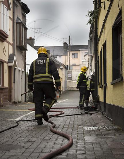 fireman in the village photo