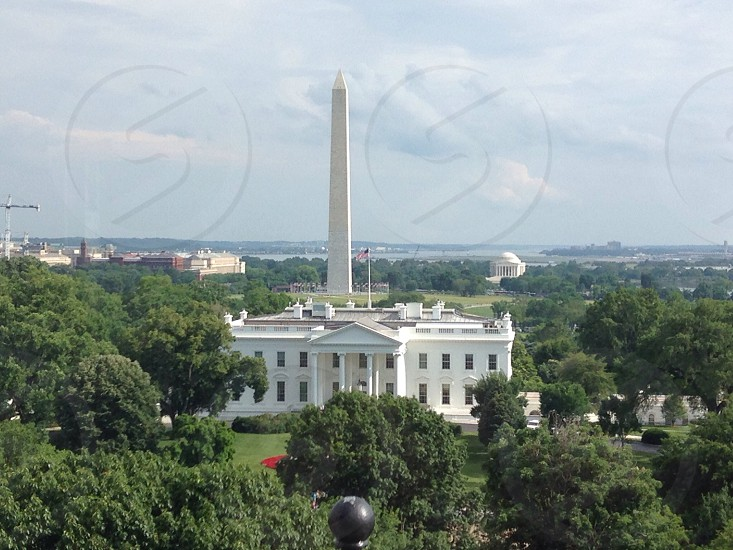 Balcony view of the White House and National Mall from the Hay Adams Hotel photo