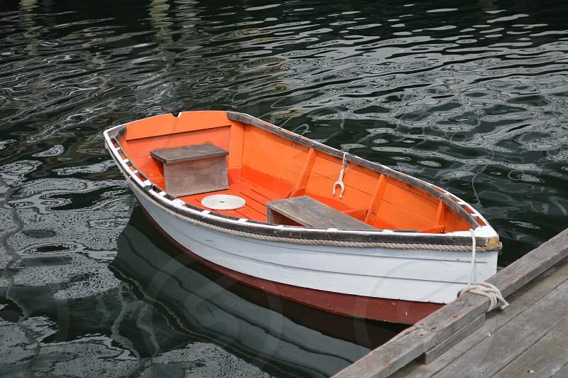 rowboat dock solitude photo