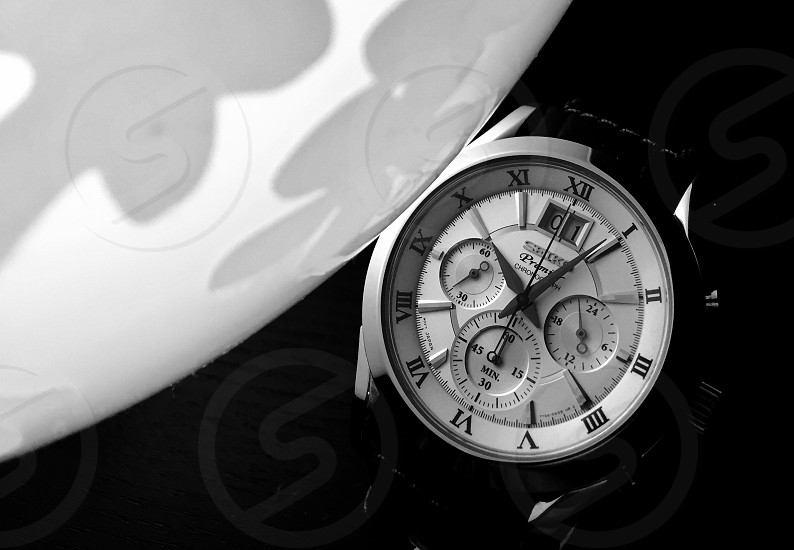 chronograph watch reading 10:05 photo