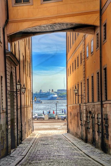 Old Town of StockholmSwedenarchitectureCruising ship photo