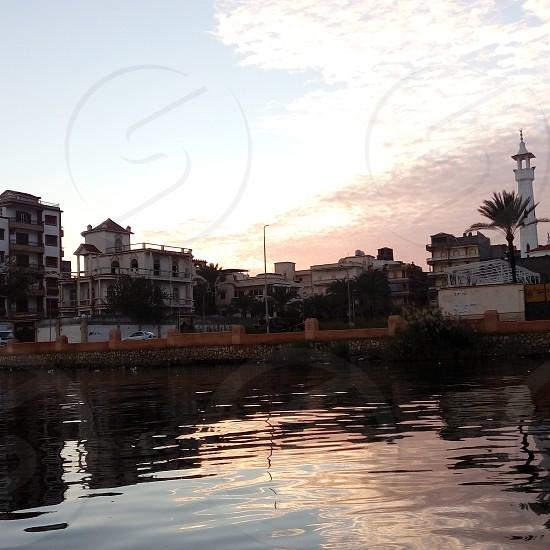 rashid city at sunset photo