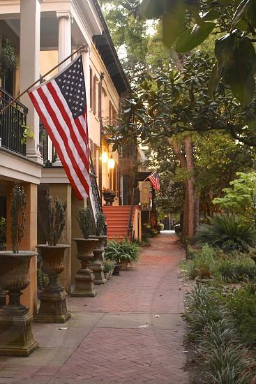Savannah Georgia.  Flag. photo