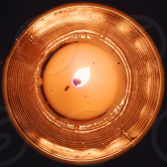 white pillar candle photo
