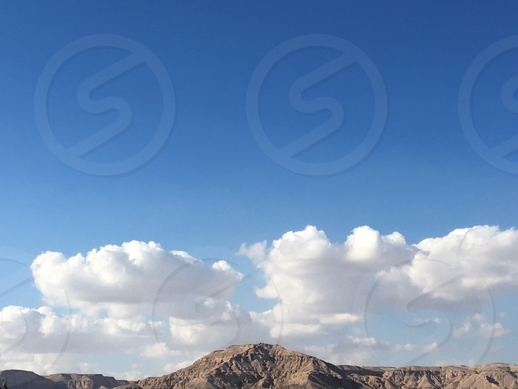 Mountain sky freshair Egypt Luxor  photo