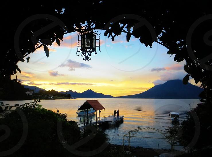 Lake Atitlan. Panajachel Guatemala. photo
