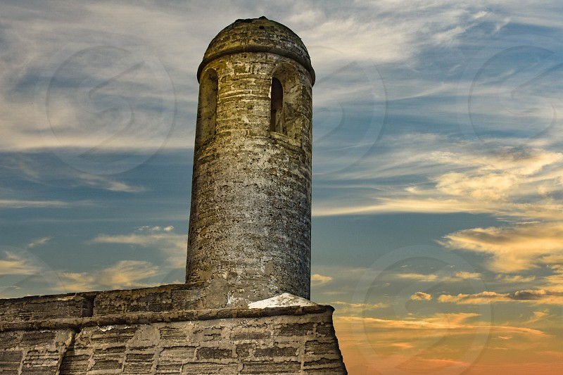 St. Augustine Florida. January 26  2019. Top view of Castillo de San Marcos Fort at Old Town in Florida's Historic Coast  (2) photo