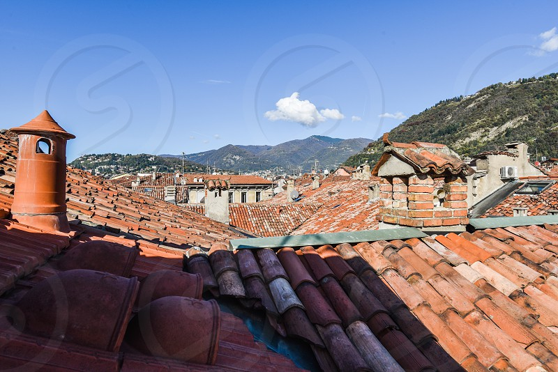 lake como italy northern italy milan tuscan europe romantic italian villa architecture terracotta roofs  photo