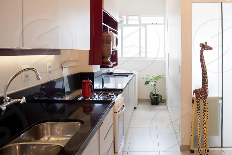 Renovated kitchen sun light  photo