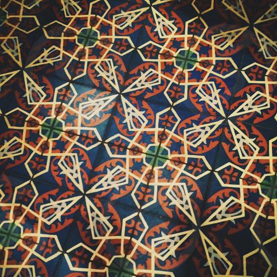 Floor tiles pattern photo