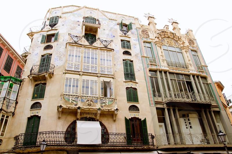 Majorca Placa Plaza Marques de Palmer modernist building can Laguila photo