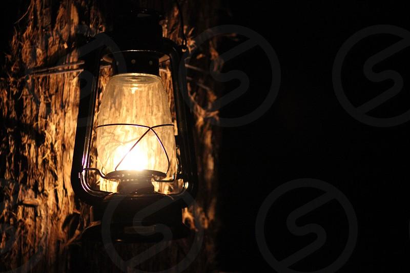 A kerosene lantern photo